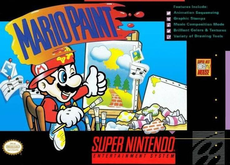 Mario Paint (Super NES, 1992) UPC: 045496820084 Pre-owned. Included: Cartridge only. Tested and in good condition. Cartridge Sold as pictured. Shipping: Orders Placed Before 4 A.M. Ship out Same day.