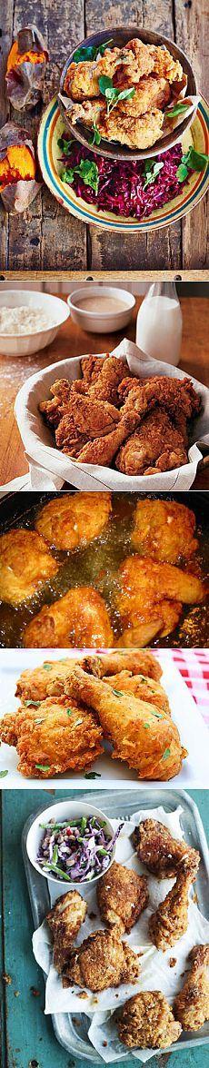 Рецепты приготовления курицы - Маринованная курица, приготовленная во фритюре   Рецепты Джейми Оливера