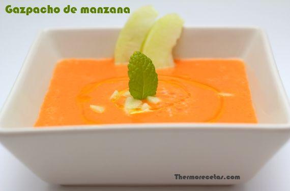 Gazpacho de manzana - http://www.thermorecetas.com/2013/07/10/gazpacho-de-manzana/