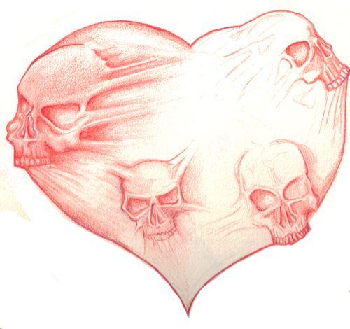 Skull Heart By DarkFart2264