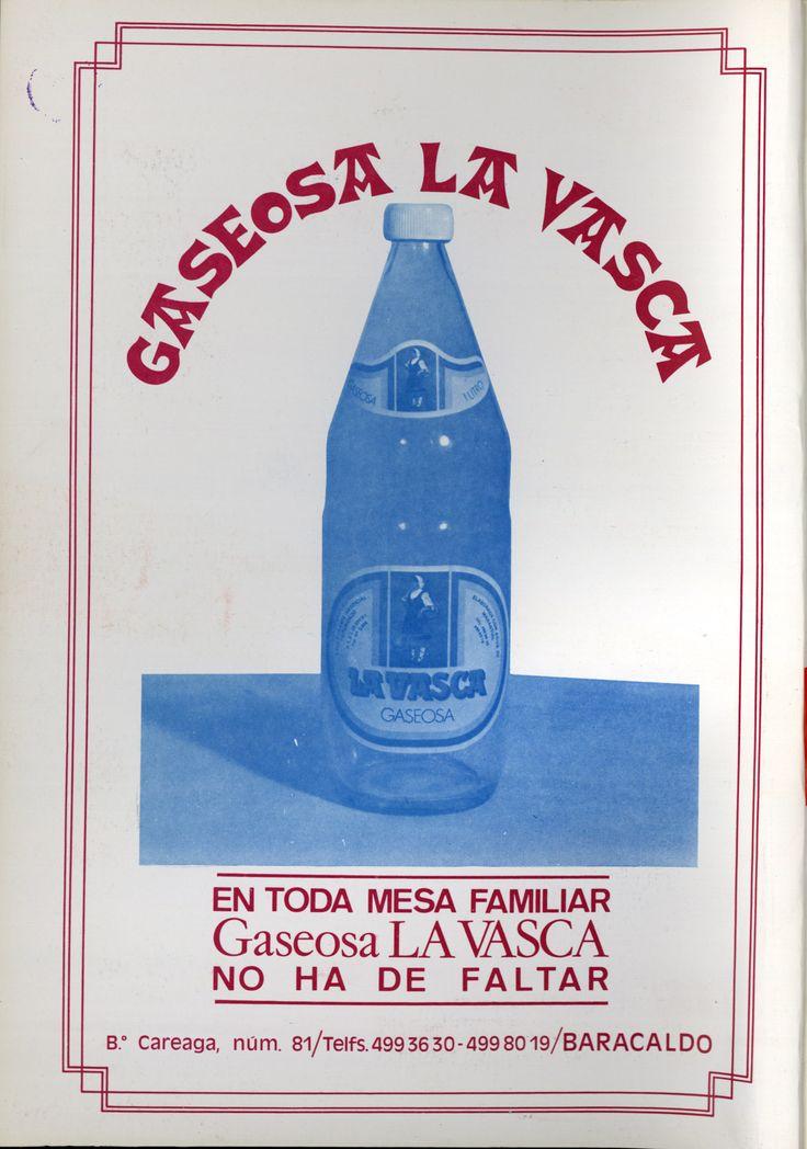 Gaseosa La Vasca en Vida Vasca 01-01-1980
