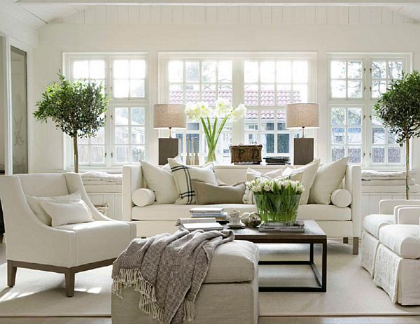 Charmant Beautiful White Living Room Design