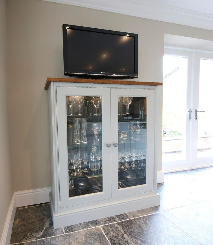 A Bespoke Glazed Kitchen Cabinet With Integrated Lighting Is A Fantastic  Way To Show Off Crystalware