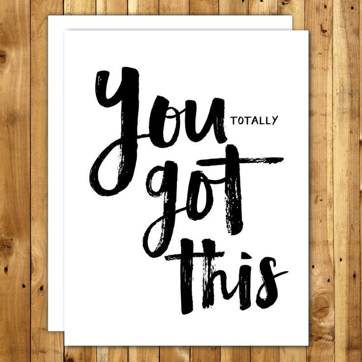 You Got This Motivational Card. Inspirational Card. New Job Card. Congrats Card. Congratulations Card. Hard Times Card. Encouragement Card. by InANutshellStudio