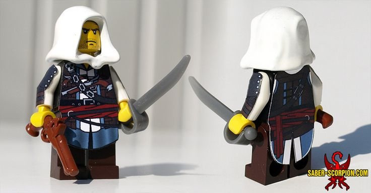 Edward Kenway of Assassin's Creed IV: Black Flag in custom LEGO minifig form: http://www.saber-scorpion.com/lego/ac_ac4blackflag.php
