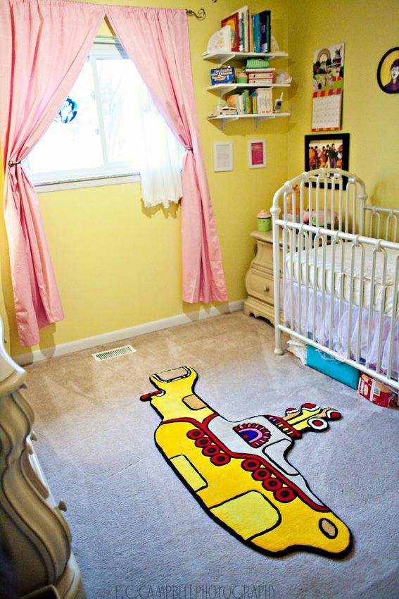 Beatles themed yellow submarine nursery