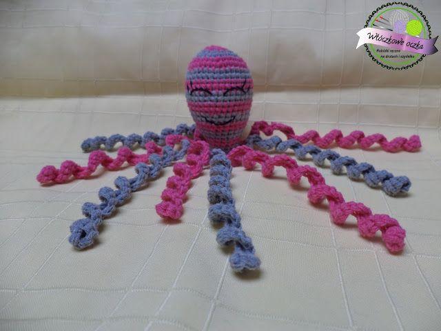 szydełkowa ośmiornica na szydełku  crochet octopus