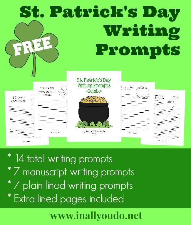 St. Patrick's Day Writing Prompts {freebie} - In All You Do