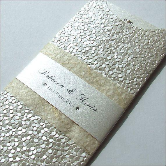 Textured Wallet Wedding Invitation