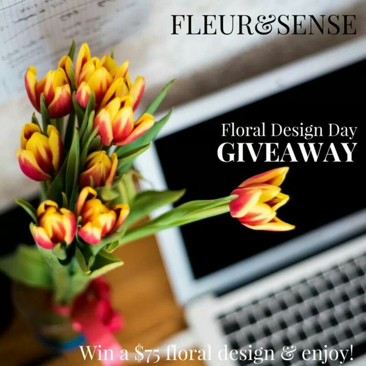 We are so happy to share with you our first giveaway in 2016! Please go to our blog, answer the question and start sharing! We will send a gift for the winner next Monday to celebrate the #FloralDesign day! To enter just go to WWW.fleuretsense.com/blog