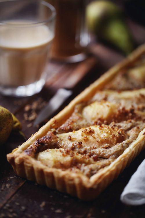 Tarte aux poires et noix de pécan
