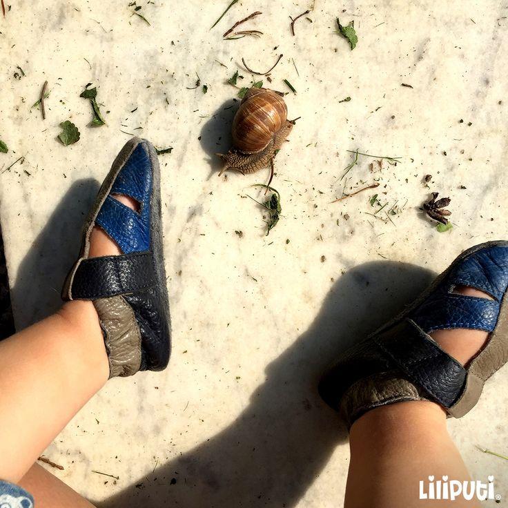 Having a snail friend  #SoftLeatherBabyShoes #LiliputiStyle