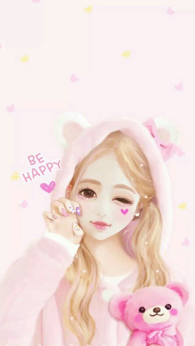 Wallpaper Kawaii Cute Girl Wallpaper Beautiful Girl Drawing Girl Drawing Images