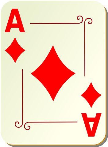 Ace, Diamonds, Poker, Play