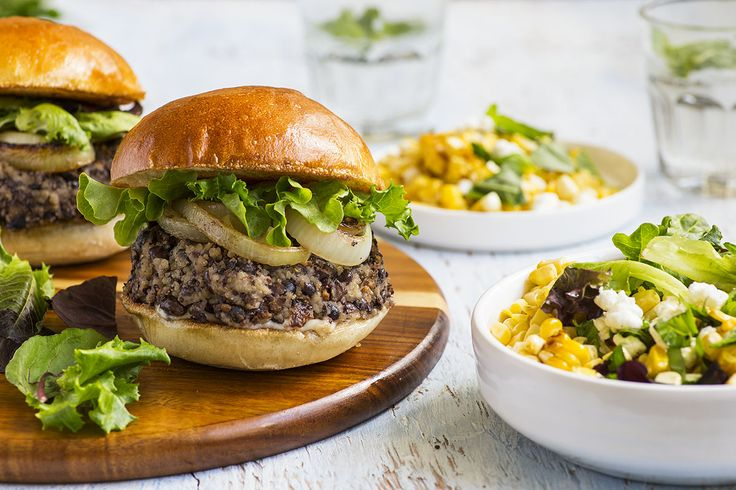 Goodfood - Black Bean-Quinoa Burger.  The very best veggie burger in town is at your fingertips in your very own kitchen. Our generous patties, combining black beans, quinoa and roasted garlic.