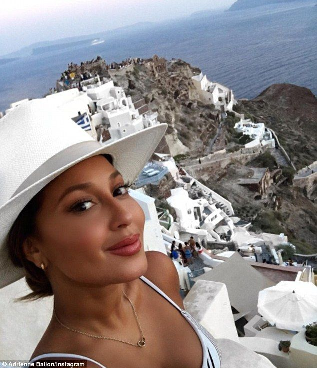 Nice view:Lapping up the sunshine in Santorini, the former girlfriend of…