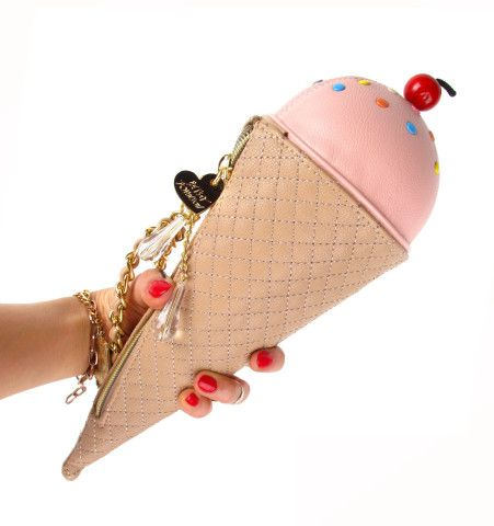 BETSEY JOHNSON Ice Cream Cone Wristlet | Patricia Field