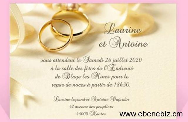 modele billet invitation mariage