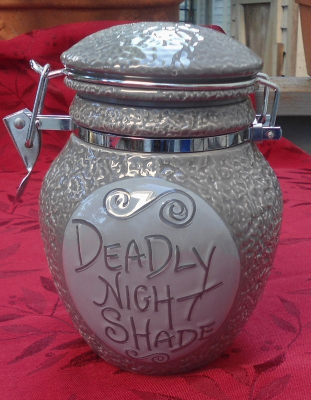 I want this!!! The Nightmare Before Christmas Sally Deadly Night Shade Cookie Jar Canister