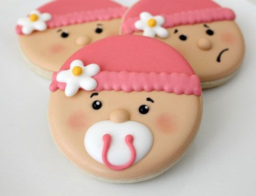 Baby Shower Cookie Tutorial - can be adapted for a baby girl or boy.