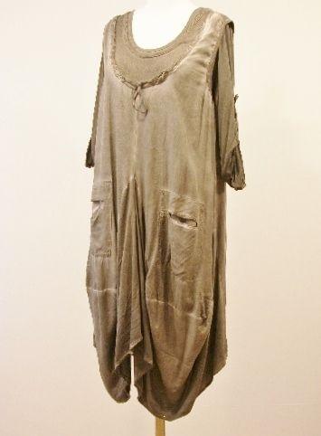 Plus Size Lagenlook Linen Parachute Dress Amp Top Set In