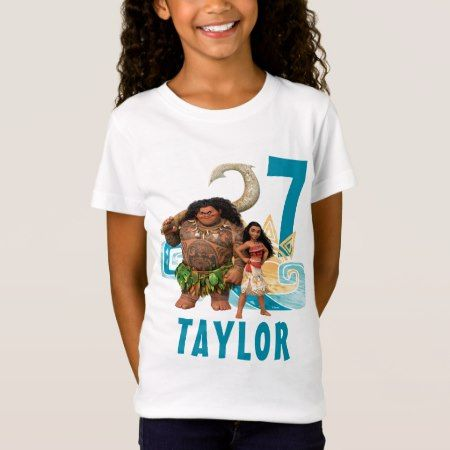 Moana | Birthday T-Shirt - click/tap to personalize and buy