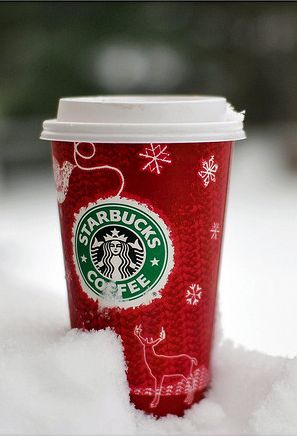 Starbucks red cups are here! This always excites me! It's the first sign of Christmas!