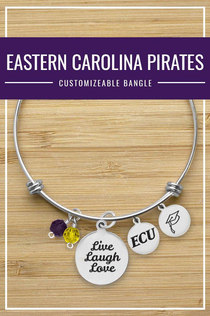 Eastern Carolina University Pirates Customizeable Bangle