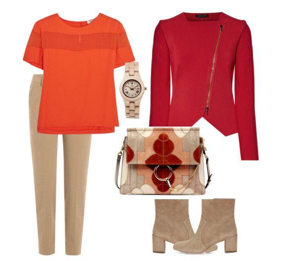 Как сочетать оранжевый и красный цвета