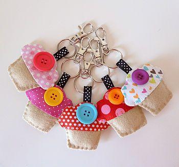 Cupcake keyrings