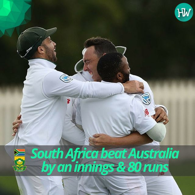 What a fascinating win it has been for the #Proteas thrashing Aus by an Innings & 80 runs. #SteveSmith #FafduPlessis #AusvSa #KyleAbbott