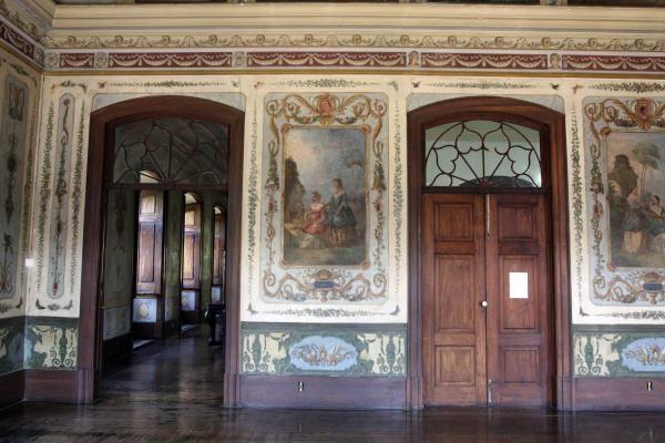 Palacete da Marquesa de Santos, São Cristóvão, Rio de Janeiro, salão dos quatro continentes.