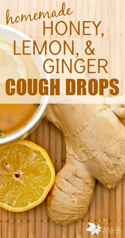 Homemade Honey Lemon Cough Drops with Ginger