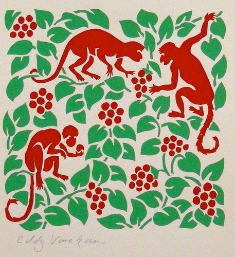 Monkeys - Stencilprint