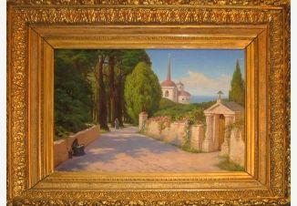Вениг Павел Карлович, южный город, лето, пейзаж, купить картину Венига, продажа картин Венига