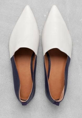 ABIGAIL LORICK & OTHER STORIES A slipper-style flat with a pointed toe