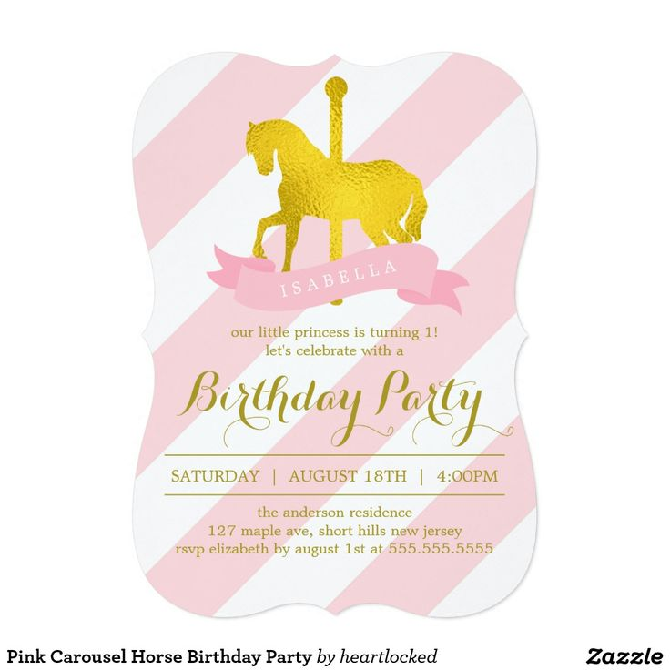 213 best GIRLS\' BIRTHDAY PARTY Invitations images on Pinterest ...