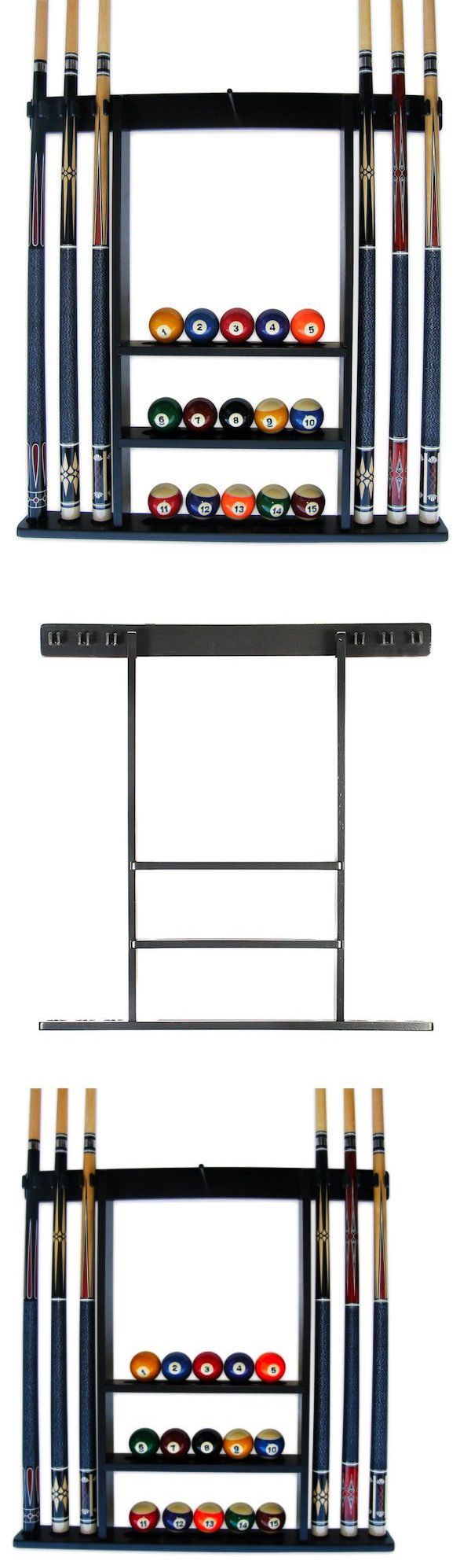 Ball and Cue Racks 75185: Black Pool Cue Rack Billiard Supply Ball Stick Storage Holder Table Accessories -> BUY IT NOW ONLY: $65.95 on eBay!