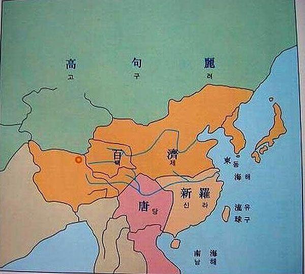 Korean delusion history maps , Russia was Korea(green:Kogryo Kingdom).Japan,Manchuria,and North China was Korea (orange:Bekjae Kingdom) いつものアレ朝鮮ファンタジーw