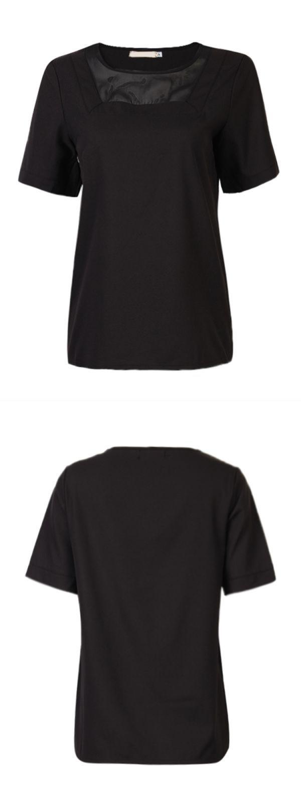 T shirts wonder woman casual women simple chiffon perspective gauze short sleeve stitching t-shirt #john #lewis #womens #t #shirts #t #shirt #pin #up #girl #vince #t #shirts #womens #uk #womens #kiss #t #shirts