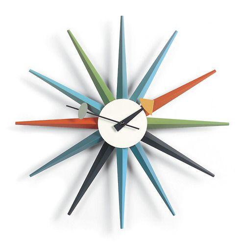 Mid-Century Modern Sunburst Clock by George Nelson