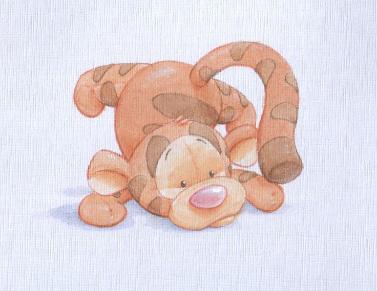 Baby Tigger watercolour by ShaneMadeArt.deviantart.com on @deviantART