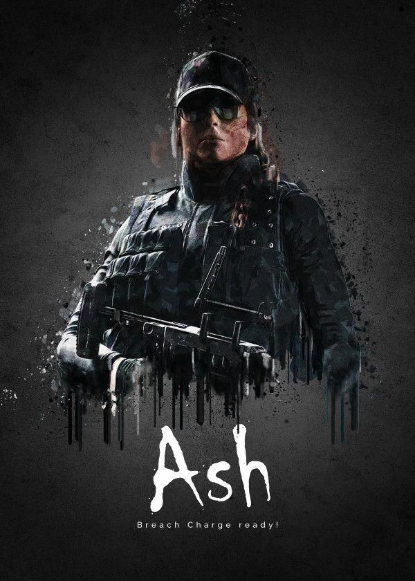 Rainbow Six Siege Characters Ash Displate Artwork By Artist