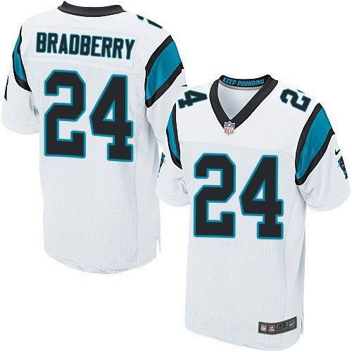 $24.99 Men's Nike Carolina Panthers #24 James Bradberry Elite White NFL Jersey