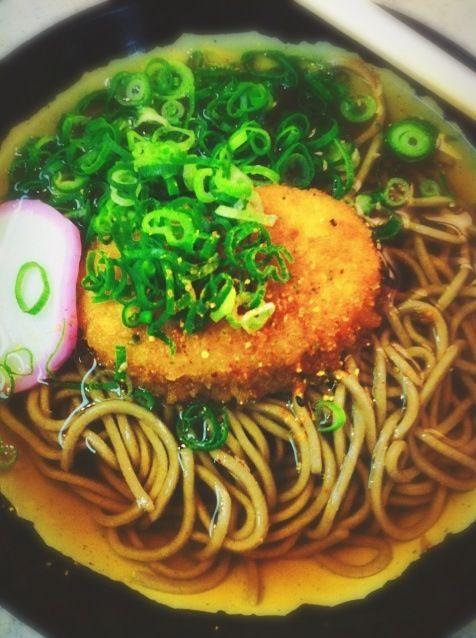 レシピとお料理がひらめくSnapDish - 12件のもぐもぐ - コロッケそば@新大阪 by Fumi