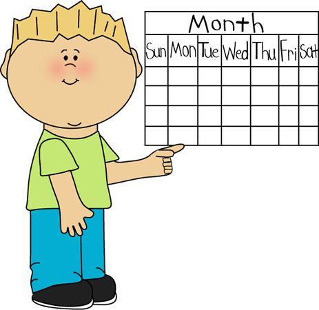 School Kid Calendar Classroom Job | Clip Art-Classroom ...