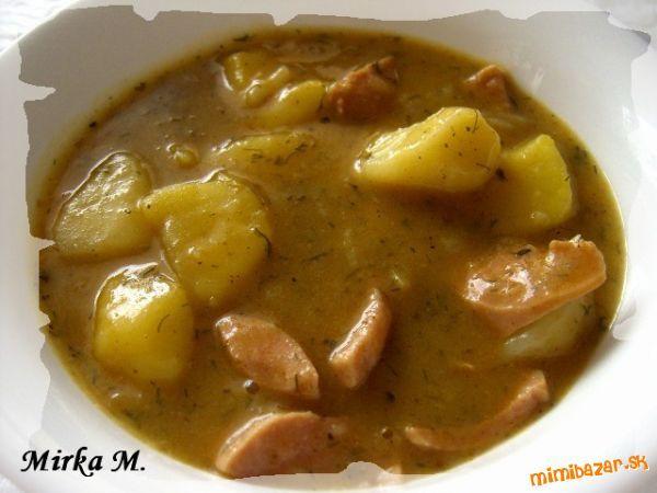 Zemiakovo párková polievka