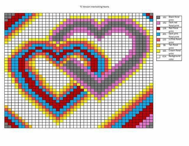 Double heart quilt