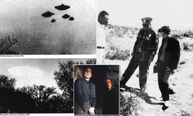All of the documents are dated from the late 1940s to the 1960s, but were top-secret until the organization posted them online this week following the return of The X-Files on television.