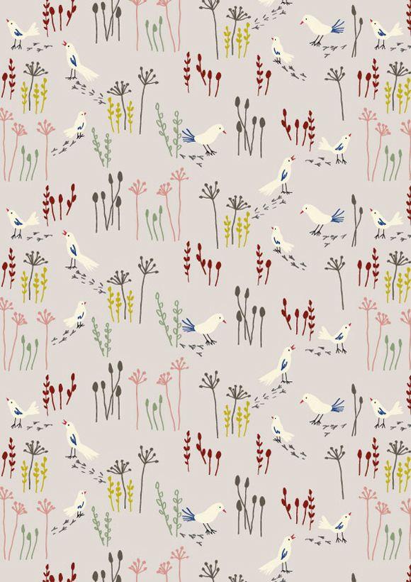 Patterns birds Winter Landscape by Little Cube